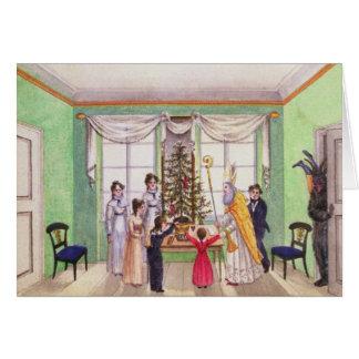 Krampus y San Nicolás del diario de Carl Felicitaciones