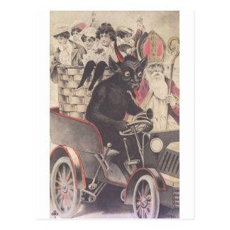 Krampus y su moto postal