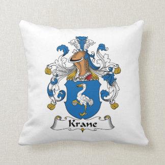 Krane Family Crest Throw Pillow