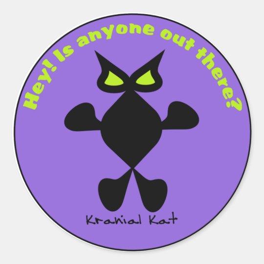 Kranial Kat Bumper Stickers Yellow Eyes Cat