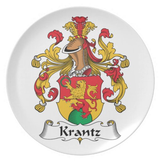 Krantz Family Crest Party Plate