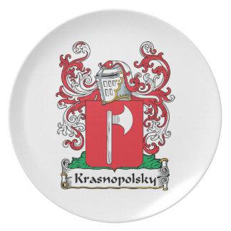 Krasnopolsky Family Crest Plate