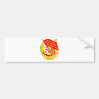 krasnoye znamya (red flag) Medal Bumper Stickers
