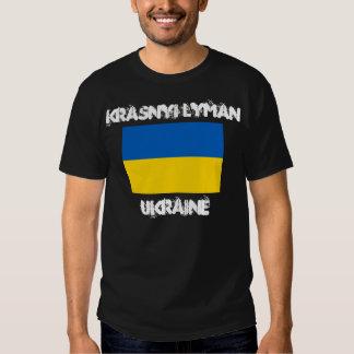 Krasnyi Lyman, Ucrania con la bandera ucraniana Poleras