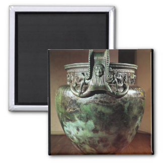 Krater, from the Tomb of a Princess of Vix 2 Inch Square Magnet