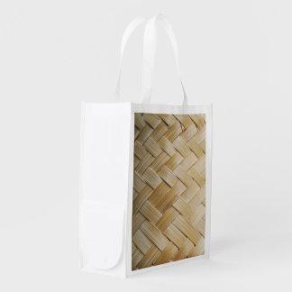 Kratip Thai Lao Isan Bamboo Rice Basket Reusable Grocery Bags