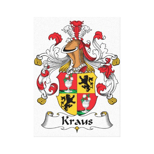 Kraus Family Crest Canvas Print