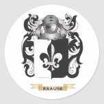 Krause Coat of Arms (Family Crest) Classic Round Sticker