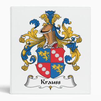 Krauss Family Crest 3 Ring Binder