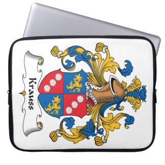 Krauss Family Crest Laptop Computer Sleeves