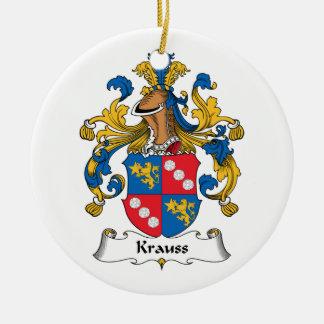 Krauss Family Crest Christmas Tree Ornament