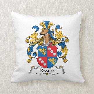 Krauss Family Crest Throw Pillow