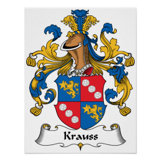 Krauss Family Crest Print