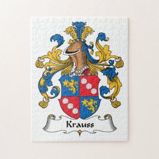 Krauss Family Crest Jigsaw Puzzles