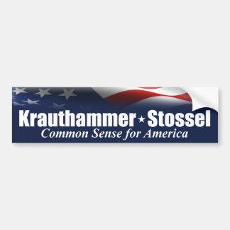 Krauthammer Stossel 2012 Bumper Stickers