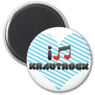 Krautrock fan 2 inch round magnet
