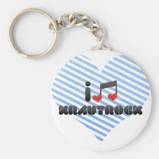 Krautrock fan basic round button keychain