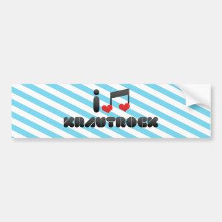 Krautrock fan car bumper sticker