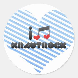 Krautrock fan sticker