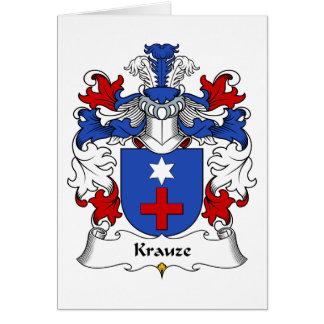 Krauze Family Crest Greeting Card
