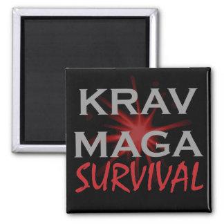 Krav Maga 2 Inch Square Magnet