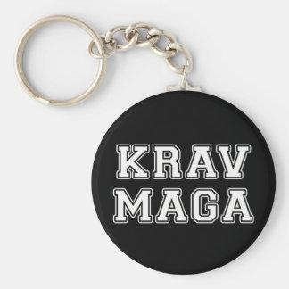 Krav Maga Basic Round Button Keychain