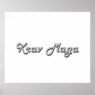 Krav Maga Classic Retro Design Poster