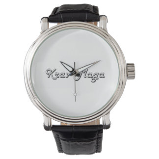 Krav Maga Classic Retro Design Wristwatch