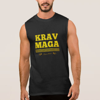Krav Maga desde 1944 de oro Remeras Sin Mangas