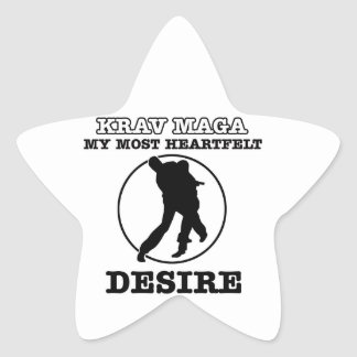 krav maga design star sticker