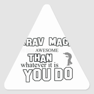 krav maga design triangle sticker