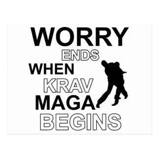 Krav maga  Designs Postcard