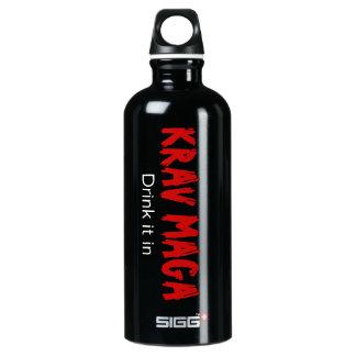 "Krav Maga ""Drink it in"" Aluminum Water Bottle"