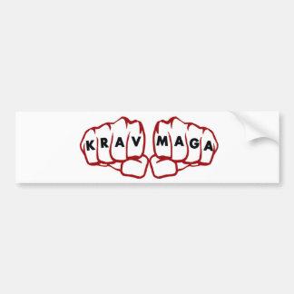 krav Maga fists Car Bumper Sticker
