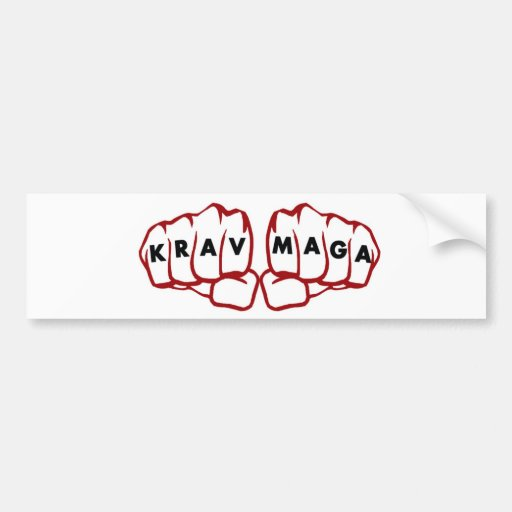krav Maga fists Bumper Stickers