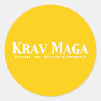Krav Maga Gifts Classic Round Sticker