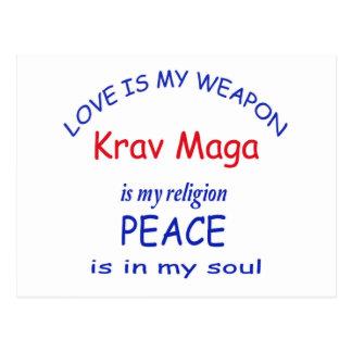 Krav Maga is my religion Postcard
