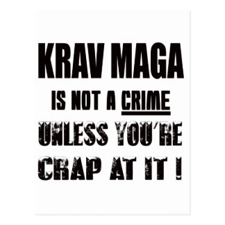 Krav Maga is not a crime Postcard