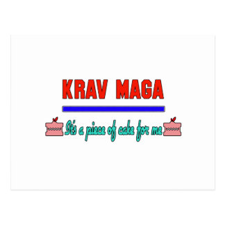 Krav Maga It's a piece of cake for me Postcard