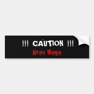 Krav Maga martial arts bumpersticker Car Bumper Sticker