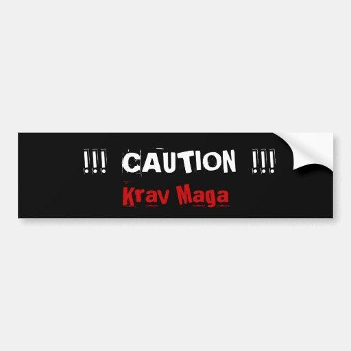 Krav Maga martial arts bumpersticker Bumper Stickers