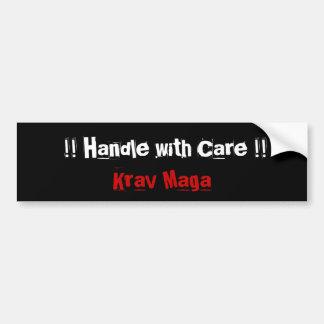 Krav Maga martial arts bumpersticker Bumper Sticker