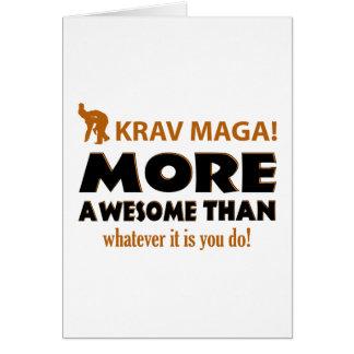 Krav Maga Martial arts gift items Card
