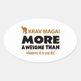 Krav Maga Martial arts gift items Oval Sticker
