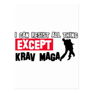 krav maga martial design postcard