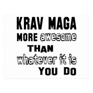 Krav Maga more awesome than whatever  it is you do Postcard