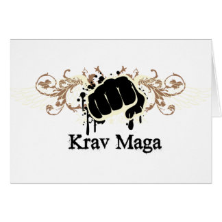 Krav Maga Punch Greeting Card