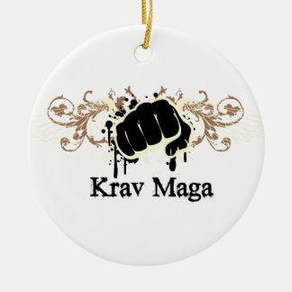 Krav Maga Punch Christmas Tree Ornament