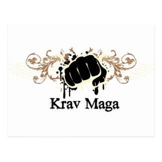 Krav Maga Punch Postcard