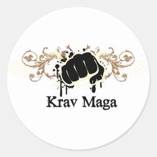 Krav Maga Punch Classic Round Sticker